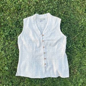 The Territory Ahead embroidered button down tank